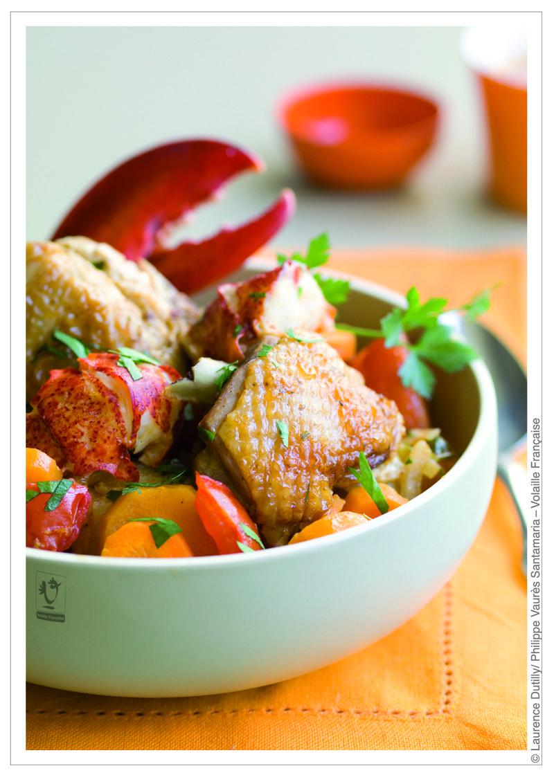Fricassée de poulet français au homard - Copie